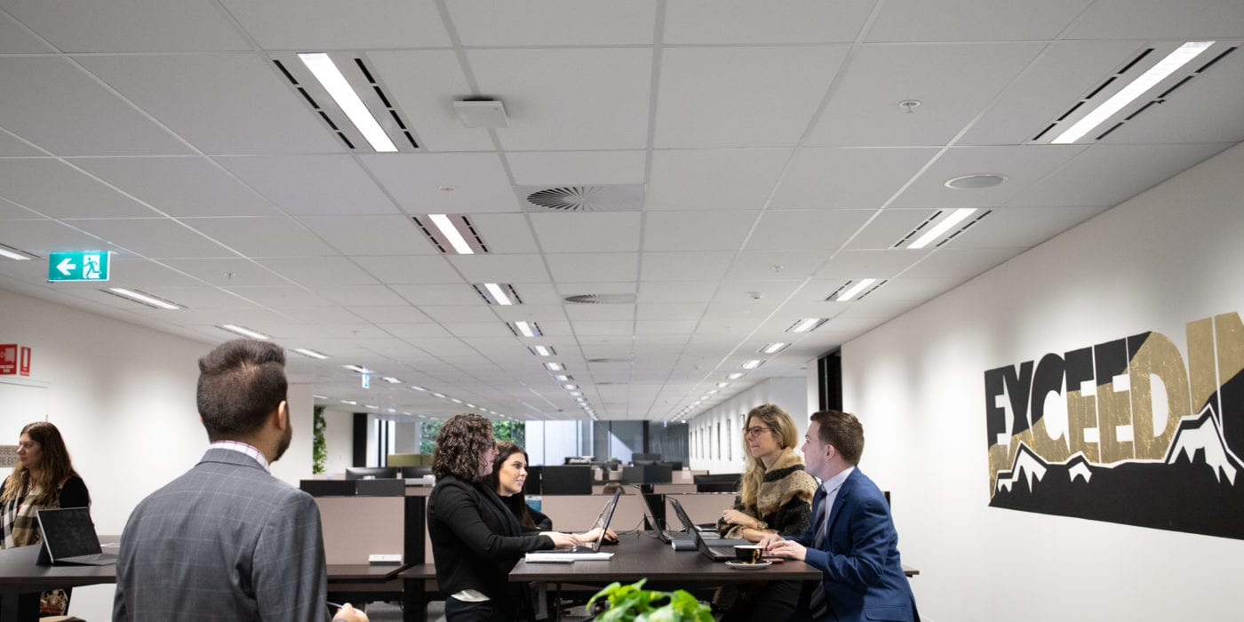Professionals in coworking space